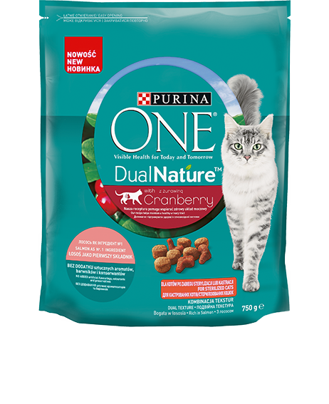 Purina One Dual Nature Adult superfoodi ja lõhega